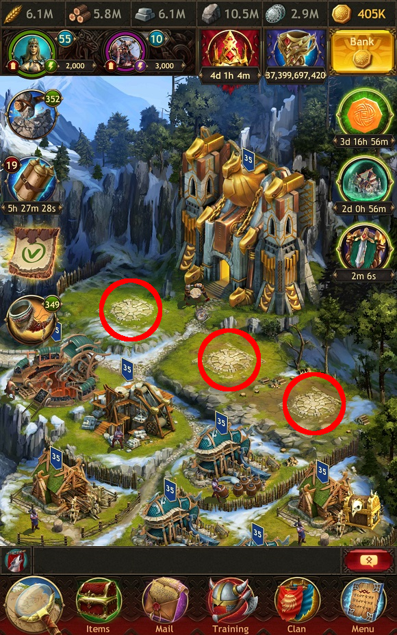 Resources - Vikings: War of Clans mobile game guide